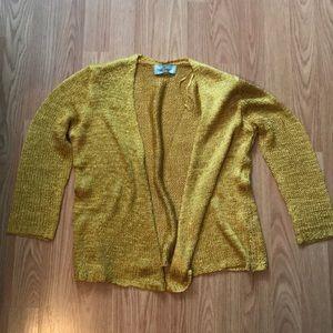 Mustard / gold cardigan